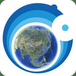 奥维高清卫星实景地图软件图标